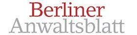 Presselogo Berliner Anwaltsblatt