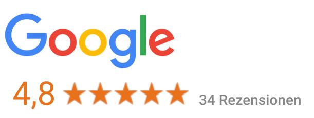 5.0 Durchschnittsbewertung auf Google
